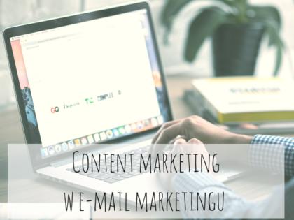 Content marketing w e-mail marketingu