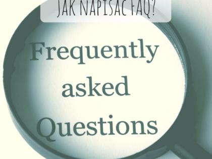 Jak napisać FAQ_copywriting conture poznań