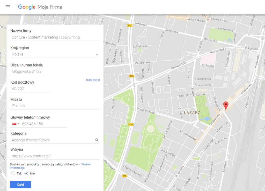 Jak dodać firmę do Google Moja Firma?
